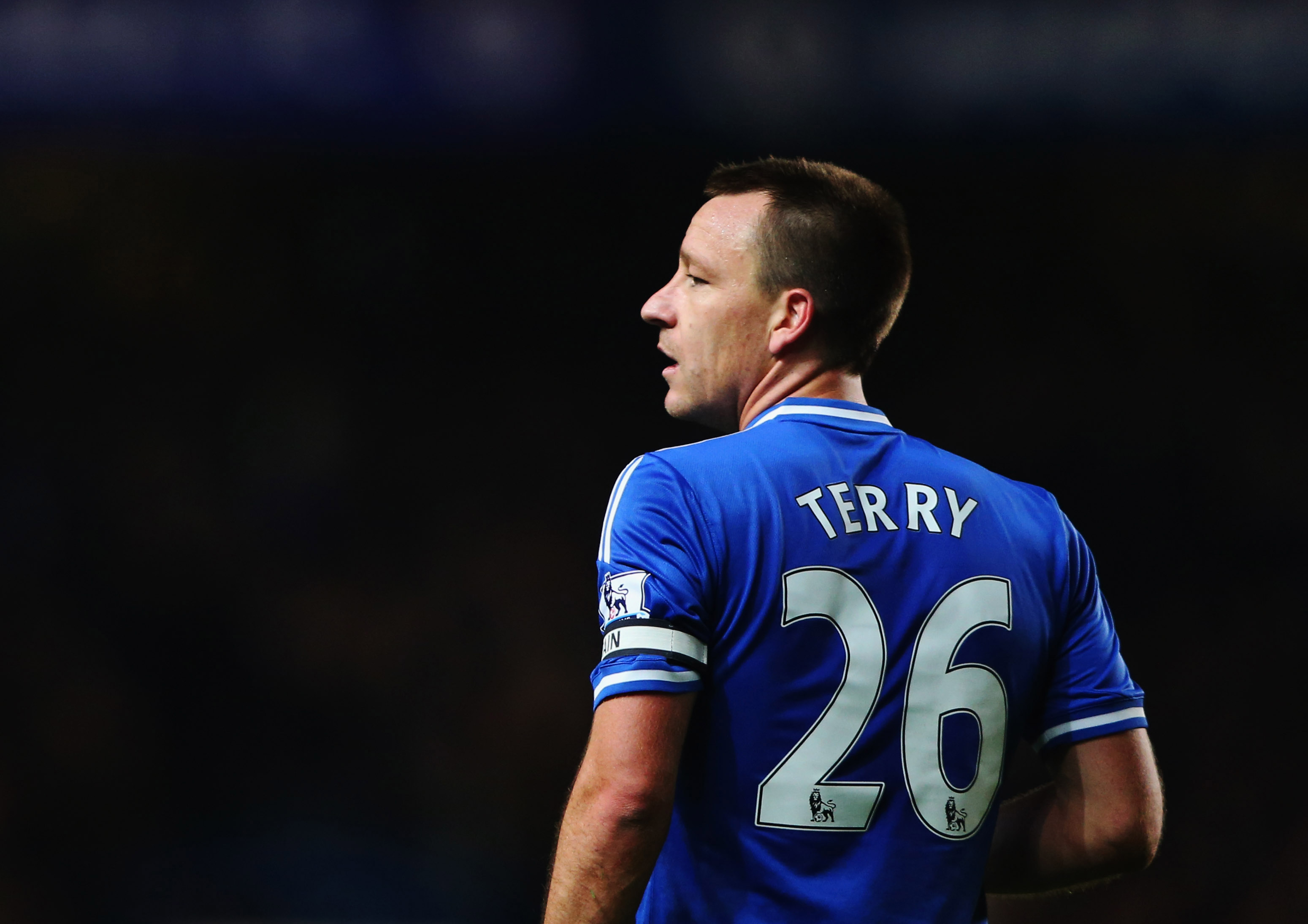 LONDON, ENGLAND - DECEMBER 01:  John Terry of Chelsea look on during the Barclays Premier League match between Chelsea and Southampton at Stamford Bridge on December 1, 2013 in London, England.  (Photo by Ian Walton/Getty Images)